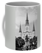 Jackson Square In Black And White Coffee Mug