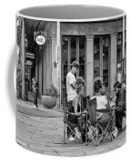 Jackson Square Reading 2 Bw Coffee Mug