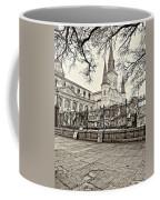 Jackson Square Winter Sepia Coffee Mug
