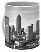 Jacksonville Skyline Morning Day Black And White Bw Panorama Florida Coffee Mug