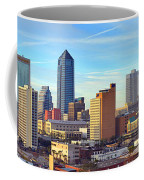 Jacksonville Skyline Morning Day Color Panorama Florida Coffee Mug