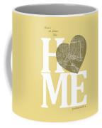 Jacksonville Street Map Home Heart - Jacksonville Florida Road M Coffee Mug