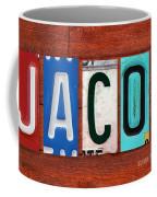 Jacob License Plate Name Sign Fun Kid Room Decor. Coffee Mug