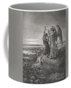 Jacob Wrestling With The Angel Coffee Mug by Gustave Dore