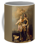 Peter I With Minerva With The Allegorical Figure Of Glory Coffee Mug
