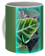 Jade Butterfly With Vignette Coffee Mug