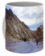 Jagged Edges On Canyon Walls In Golden Canyon Trail In Death Valley National Park-california  Coffee Mug