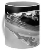 Jaguar Car Hood Ornament Reflection Bw Coffee Mug