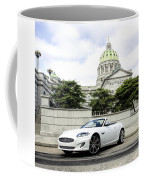 Jaguar Xk And The Capitol Building Coffee Mug