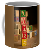 James - Alphabet Blocks Coffee Mug