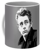 James Dean In Black And White Coffee Mug