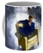 James Dean In Yellow Leather Chair Coffee Mug