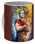 James Dean - Palette Knife Oil Painting On Canvas By Leonid Afremov Coffee Mug
