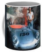 James Dean With His Spyder Coffee Mug