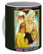 Japanese Chin Art - Some Like Hot Movie Poster Coffee Mug