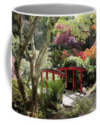 Japanese Garden Bridge With Rhododendrons Coffee Mug
