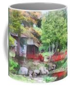 Japanese Garden With Red Bridge Coffee Mug