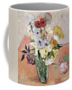 Japanese Vase With Roses And Anemones Coffee Mug