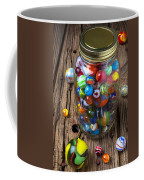 Jar Of Marbles With Shooter Coffee Mug by Garry Gay