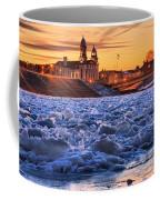 Jay Street Bridge Winter Panorama Coffee Mug