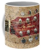 Jay Turser Guitar Head - Red Guitar - Digital Painting Coffee Mug