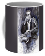 Jazz Saxophonist John Coltrane Black Coffee Mug