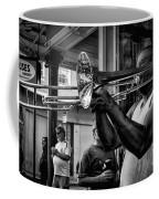 Jazzy Trombone Music-bw Coffee Mug