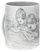 Jean Pierre Hoschede And Michel Monet Coffee Mug by Claude Monet