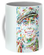 Jean Renoir Watercolor Portrait Coffee Mug