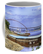 Jefferson Barracks Bridge A View From Cliff Cave Coffee Mug