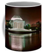 Jefferson Memorial At Night Coffee Mug by Olivier Le Queinec