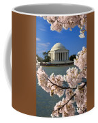 Jefferson Memorial Cherry Trees Coffee Mug
