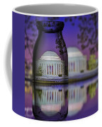 Jefferson Memorial In A Bottle Coffee Mug by Susan Candelario