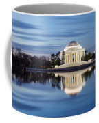 Washington Dc Jefferson Memorial In Blue Hour Coffee Mug