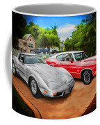Jeffs Cars Corvette And 442 Olds Coffee Mug
