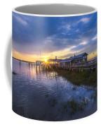 Jekyll Island Sunset Coffee Mug by Debra and Dave Vanderlaan