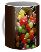 Jelly Beans Spilling Out Of Glass Jar Coffee Mug