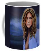 Jennifer Aniston Painting Coffee Mug