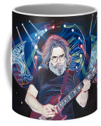 Jerry Garcia And Lights Coffee Mug