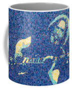 Jerry Garcia Chuck Close Style Coffee Mug by Joshua Morton