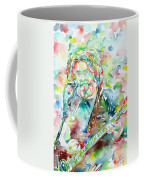 Jerry Garcia Playing The Guitar Watercolor Portrait.2 Coffee Mug