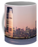 Jersey City And New York City  With Manhattan Skyline Over Hudso Coffee Mug