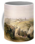 Jerusalem From The Mount Of Olives Coffee Mug by David Roberts