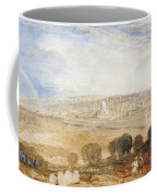 Jerusalem From The Mount Of Olives Coffee Mug by Joseph Mallord William Turner
