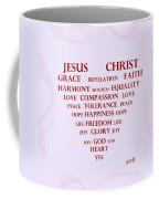 Jesus Christ Message Coffee Mug by Georgeta  Blanaru