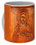 Jesus From A Door Panel At Santuario De Chimayo Coffee Mug