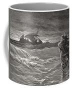 Jesus Walking On The Sea John 6 19 21 Coffee Mug by Gustave Dore