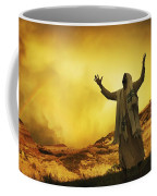 Jesus With Arms Stretched Towards Heaven Coffee Mug