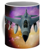 Jet Fighter Aircraft F-16 Falcon Aircraft  Coffee Mug by Ericamaxine Price