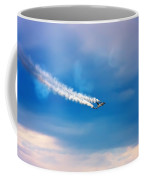 Jetfighter With Smoke Trail. Coffee Mug